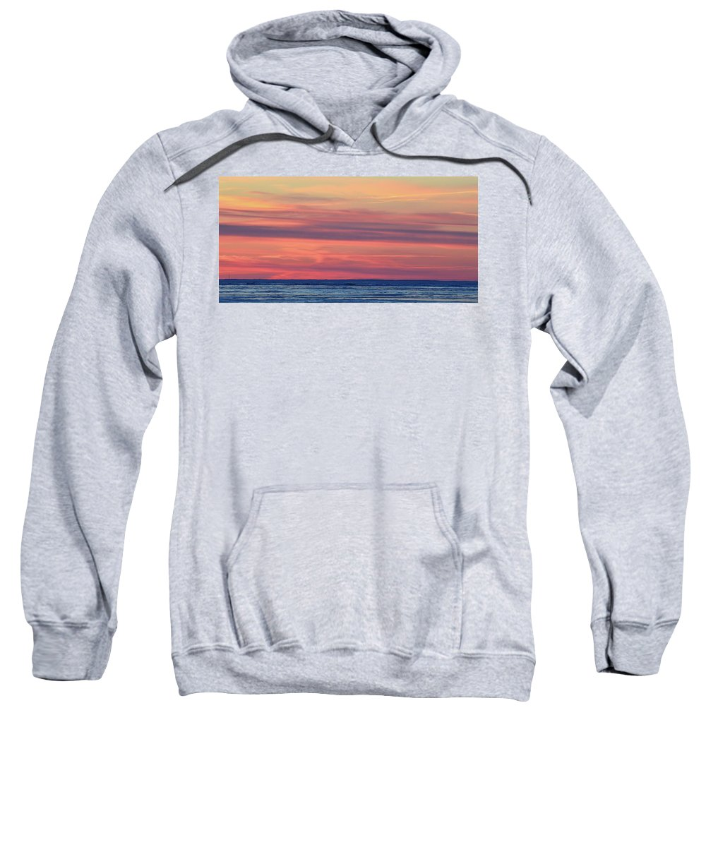 Abstract Sweatshirt featuring the photograph Clouds At Sunrise Two by Lyle Crump