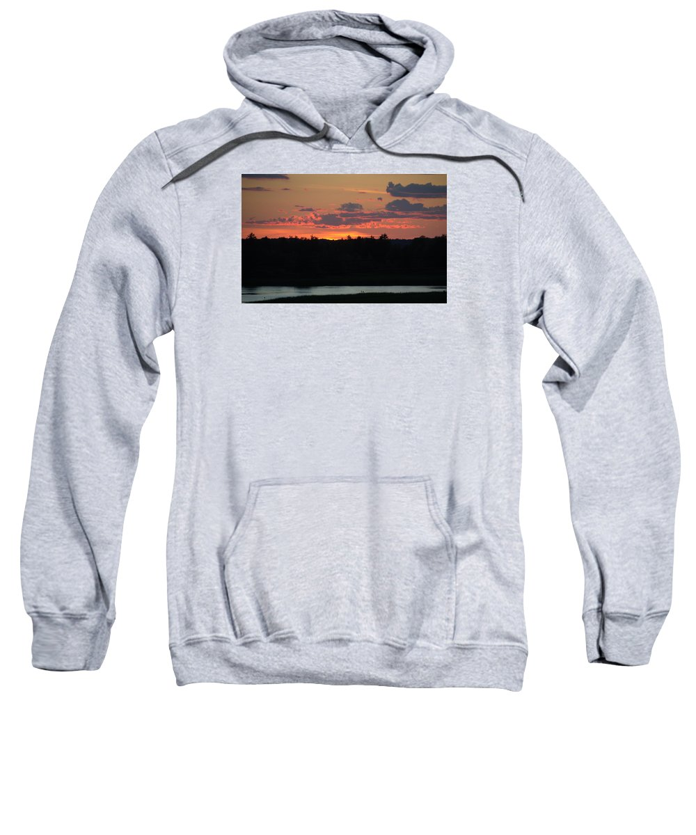 Sunset Sweatshirt featuring the photograph Clouds On Fire - Thousand Island Sunset - by Linda Rae Cuthbertson