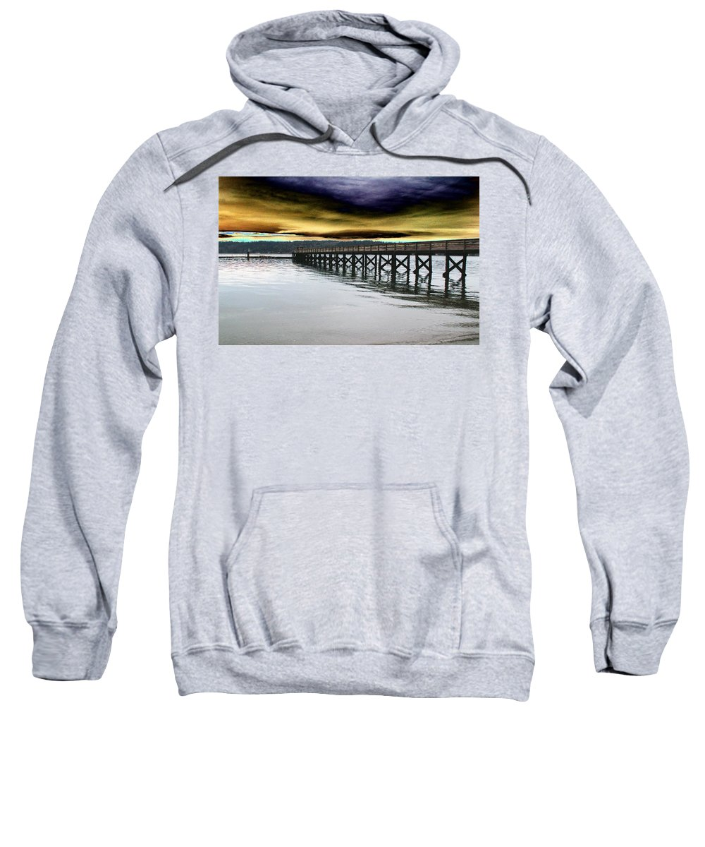 Clouds Sweatshirt featuring the photograph Clouds Over Illahee by Tim Allen