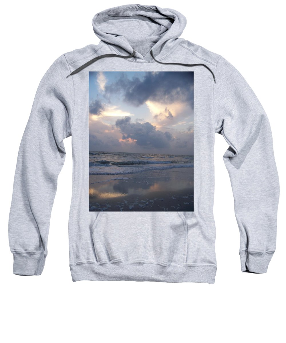 Rain Sweatshirt featuring the photograph Cloudy Day In Naples by Laurie Paci