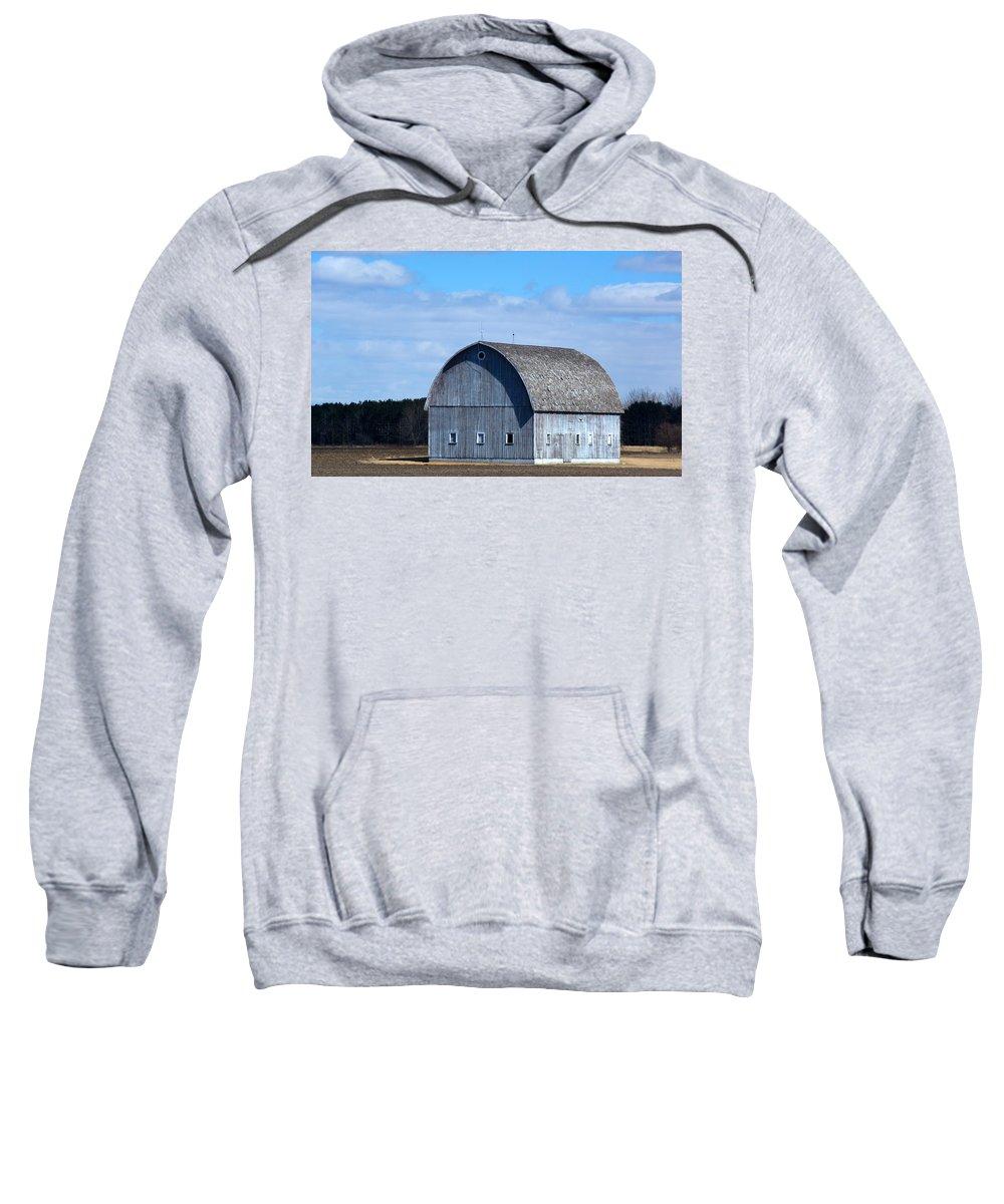 Barn Sweatshirt featuring the photograph Cloudy Day by Linda Kerkau