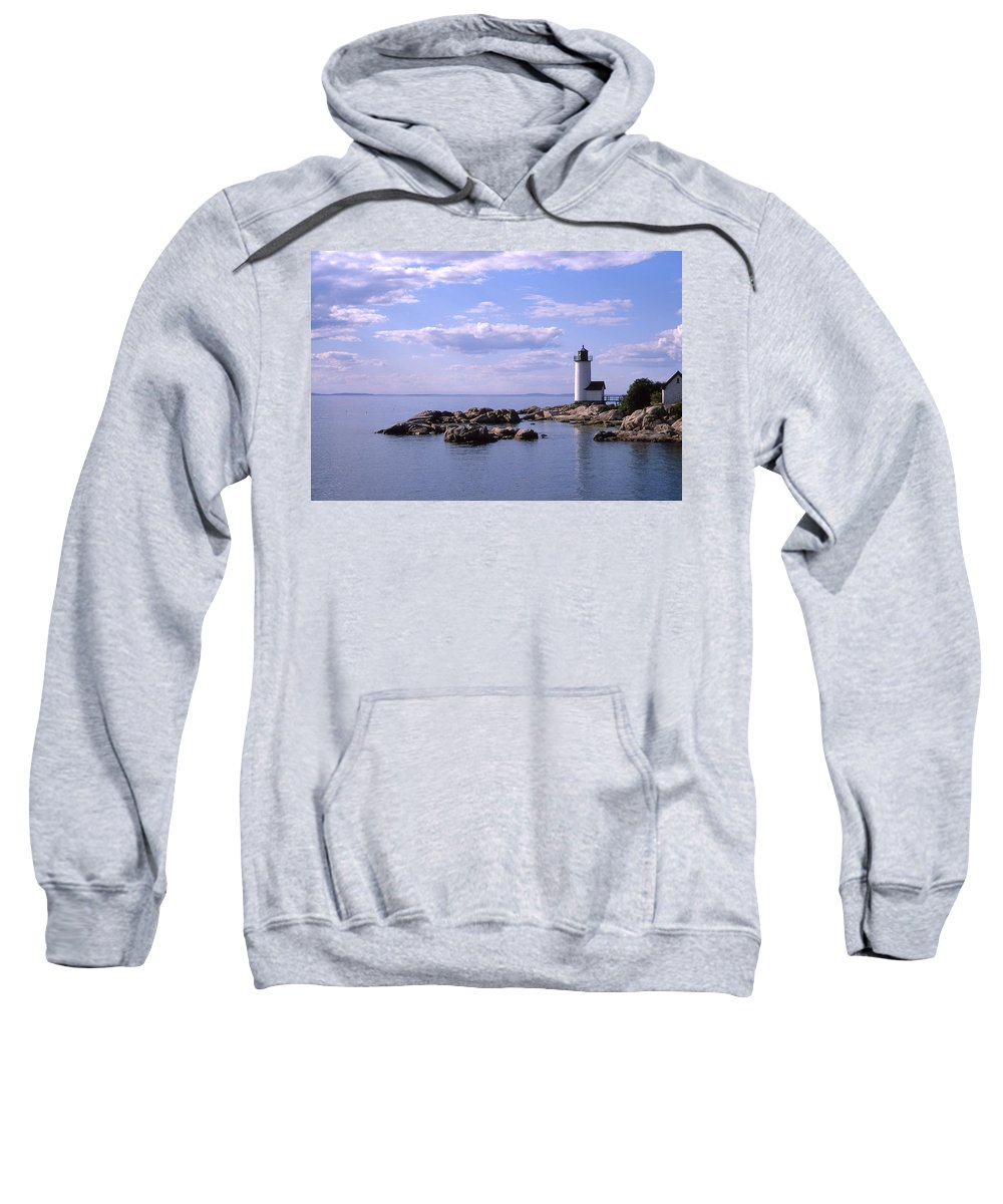 Landscape Lighthouse New England Nautical Sweatshirt featuring the photograph Cnrf0901 by Henry Butz