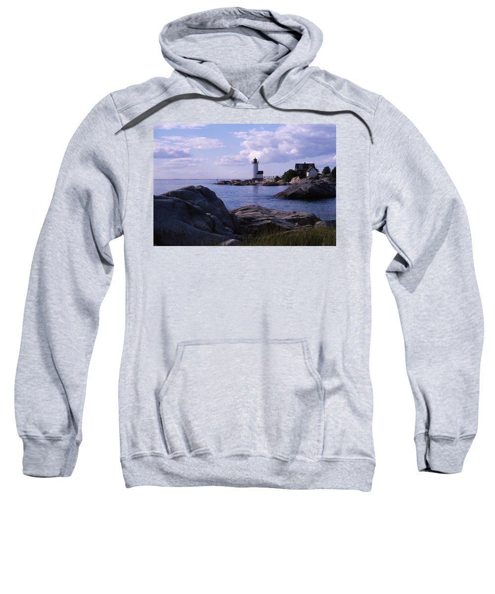 Landscape Lighthouse New England Annisquam Harbor Light Gloucester Sweatshirt featuring the photograph Cnrf0903 by Henry Butz