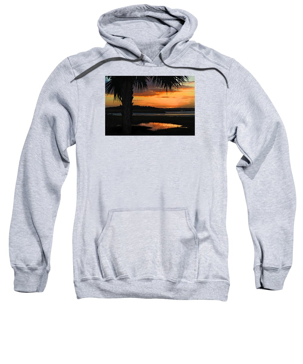 Sunrise Sweatshirt featuring the photograph Coastal Colors by Laura Ragland