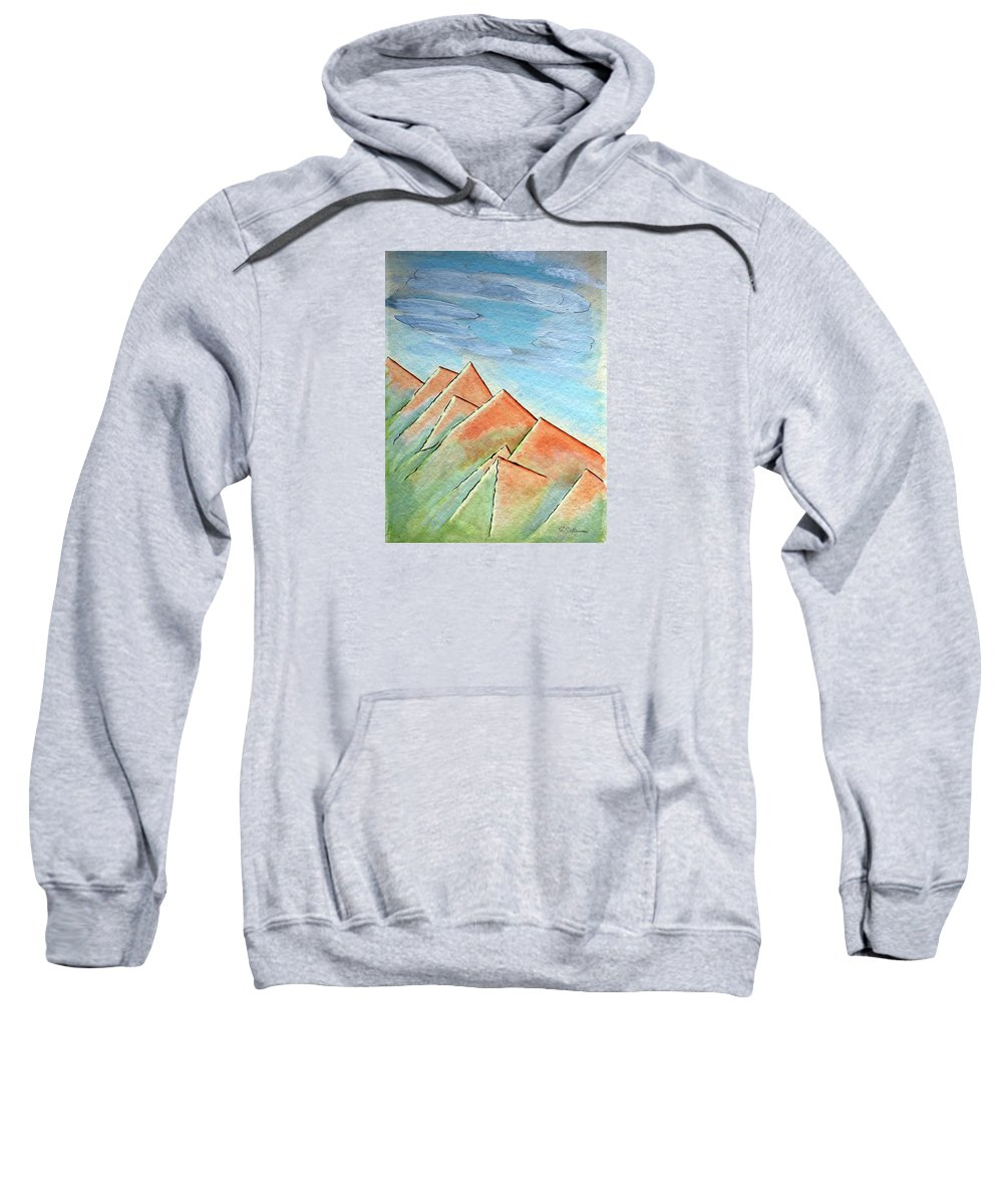 Painting Sweatshirt featuring the painting Coastal Range by J R Seymour