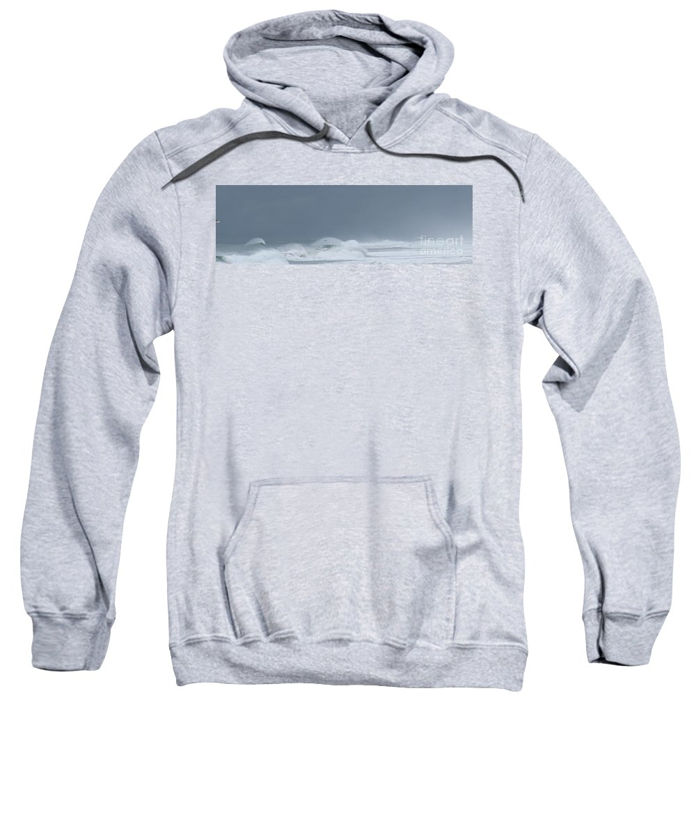 Beach Sweatshirt featuring the photograph Coastal Storm by Larry Daeumler