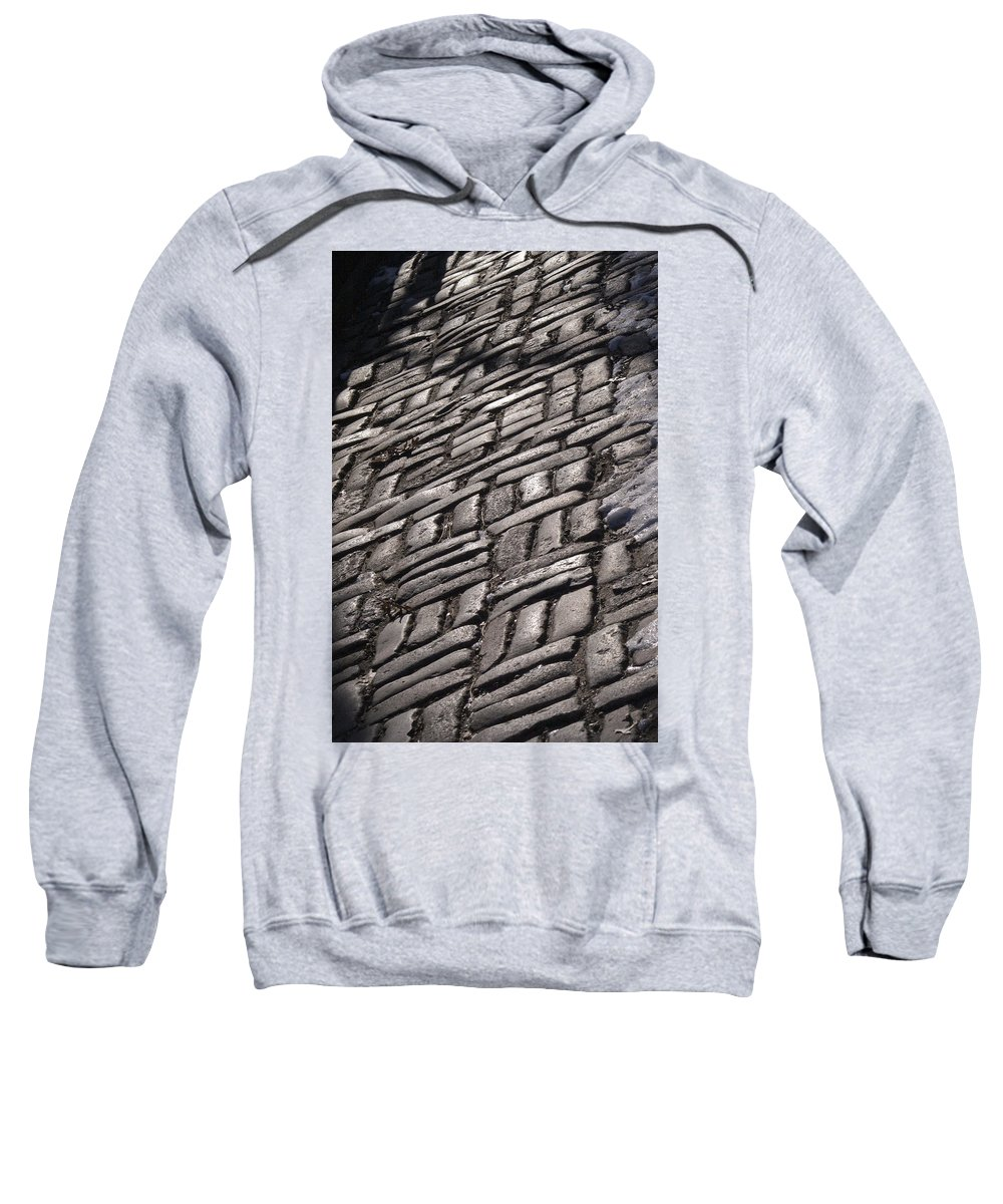 Cobblestone Sweatshirt featuring the photograph Cobble Stone Walk by Henri Irizarri