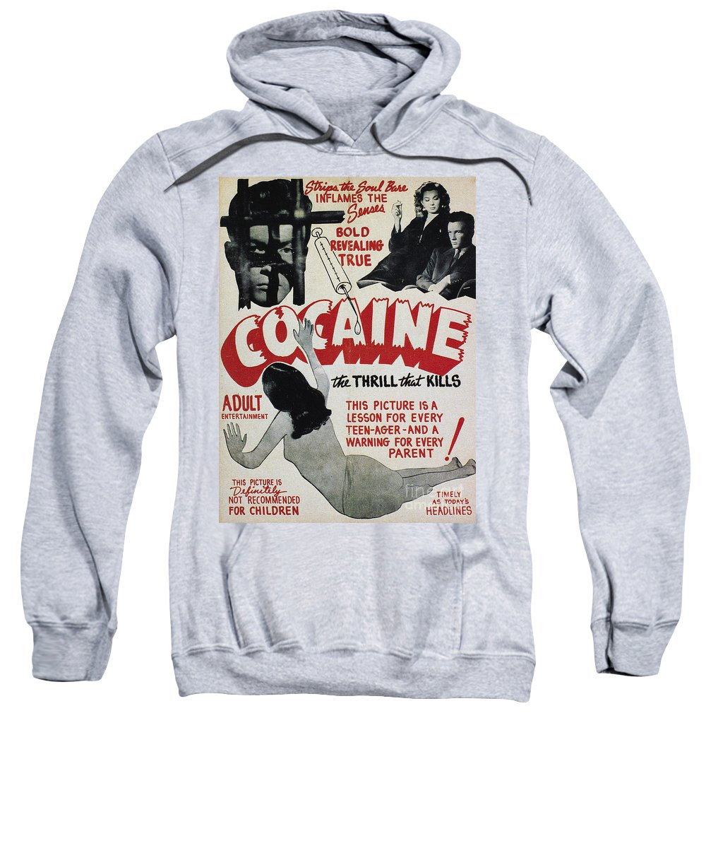 1940s Sweatshirt featuring the photograph Cocaine Movie Poster, 1940s by Granger