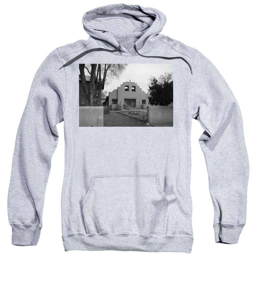 Architecture Sweatshirt featuring the photograph Cochiti Church by Rob Hans