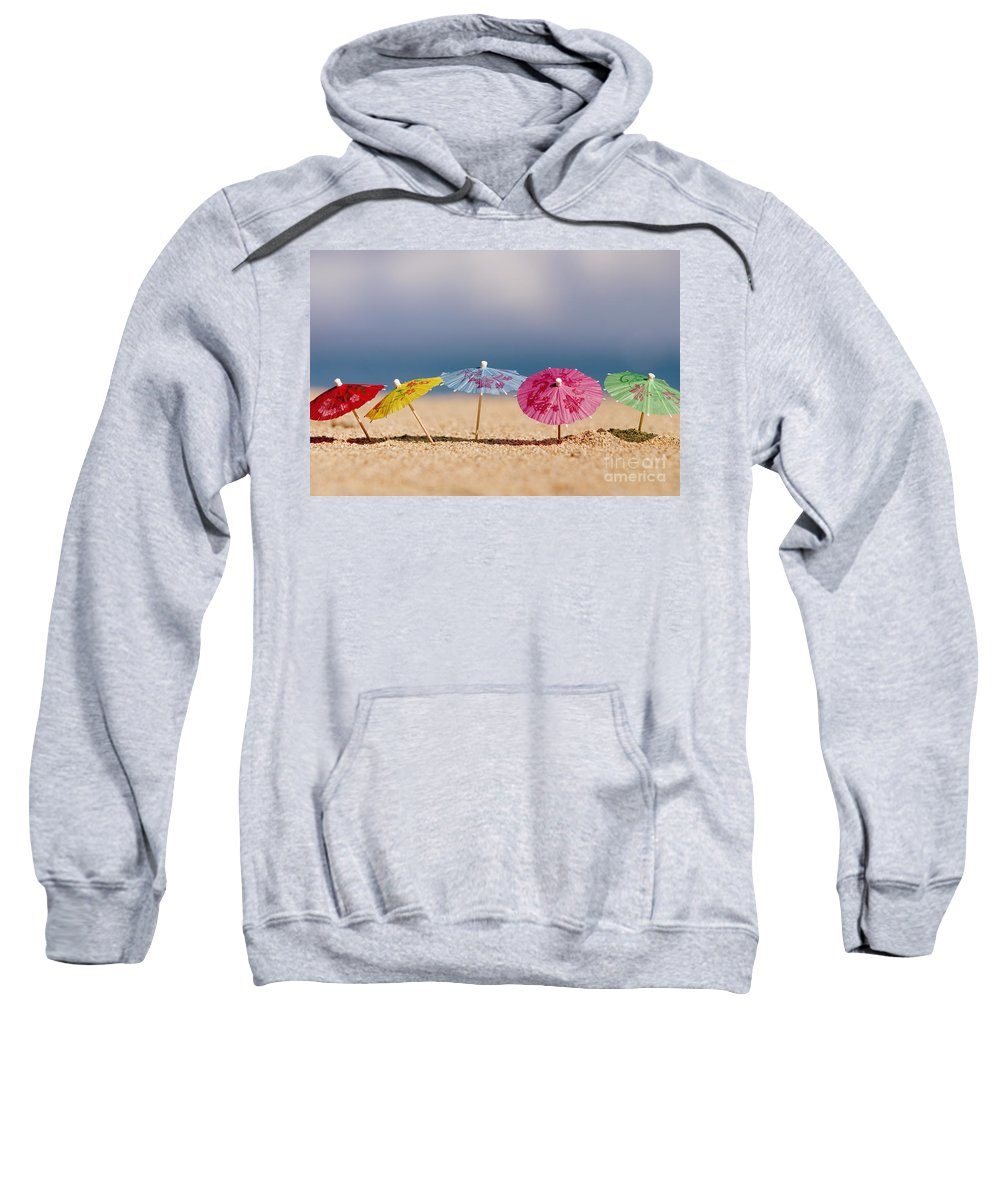 Beach Sweatshirt featuring the photograph Cocktails In The Sand by Ron Dahlquist - Printscapes