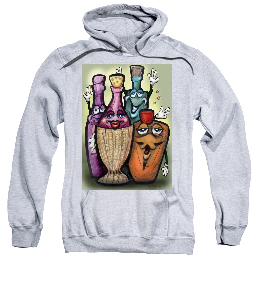 Cocktail Sweatshirt featuring the greeting card Cocktails by Kevin Middleton