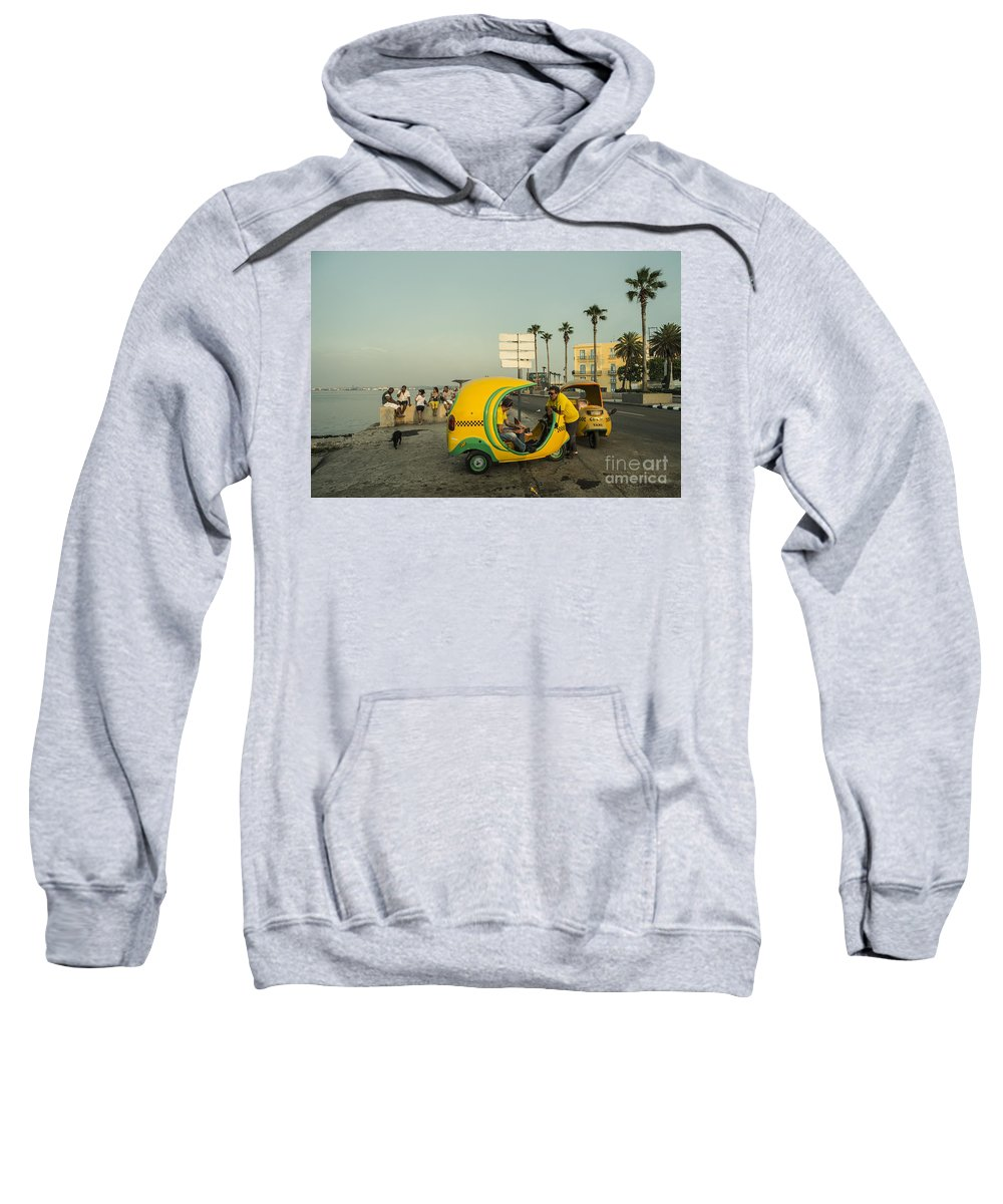 Coco Sweatshirt featuring the photograph Coco Taxi's by Rob Hawkins