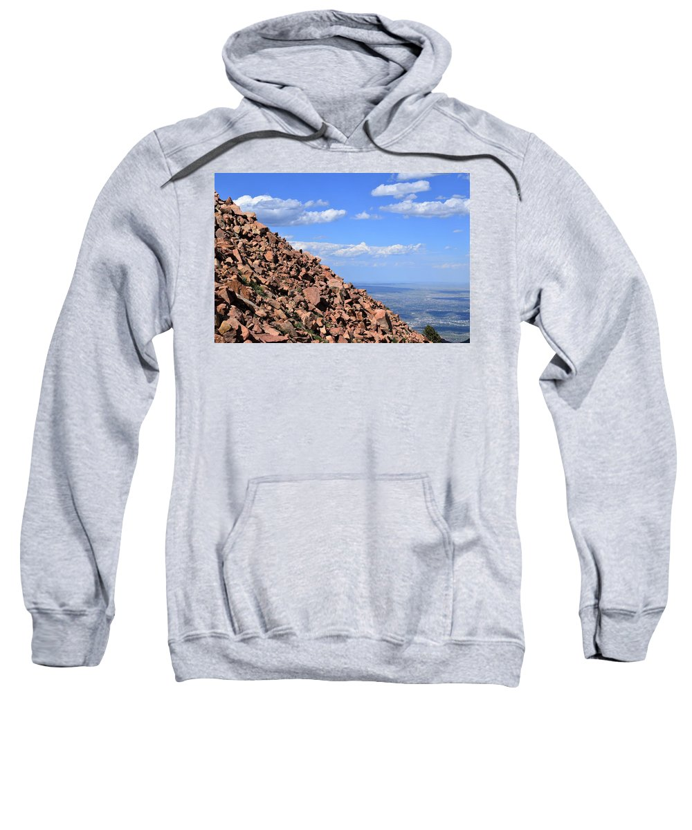 Colorado Springs Sweatshirt featuring the photograph Cog View by Heather Fallot
