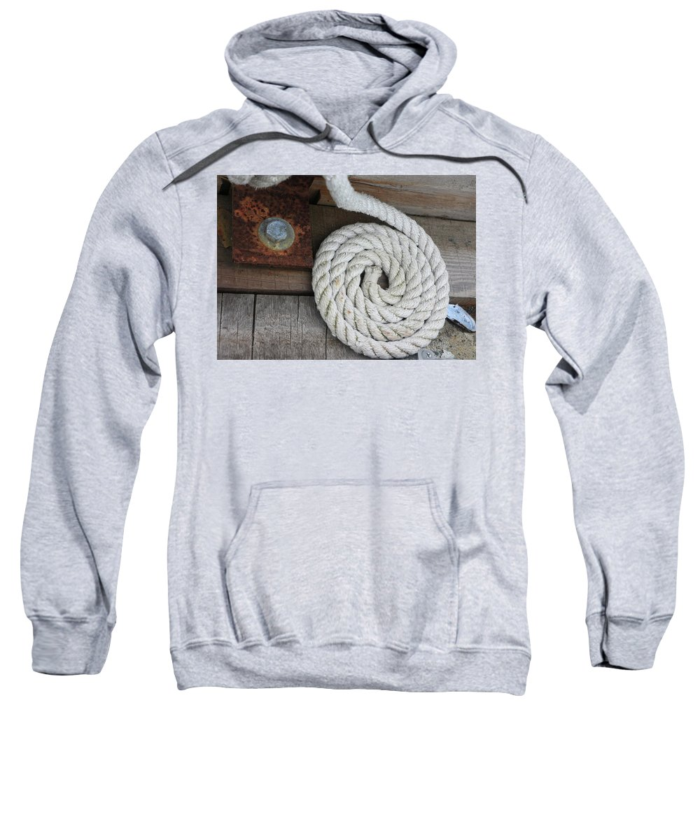 White Sweatshirt featuring the photograph Coiled by Dorothy Hilde