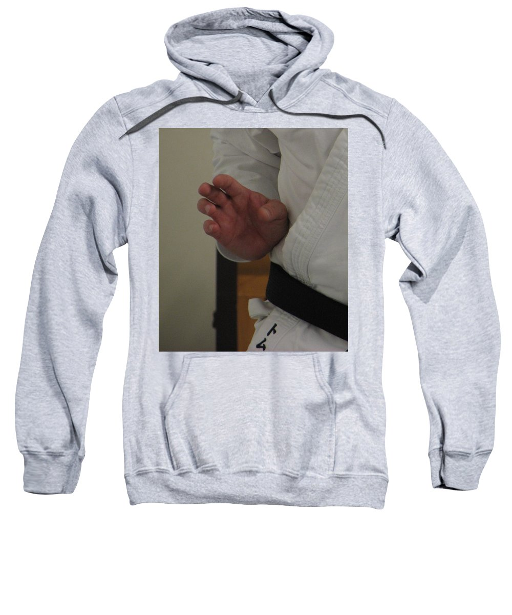 Karate Sweatshirt featuring the photograph Coiled by Kelly Mezzapelle