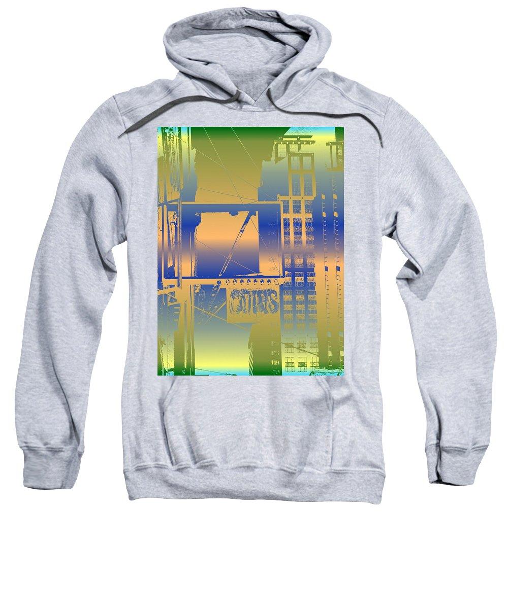 Seattle Sweatshirt featuring the digital art Coins by Tim Allen