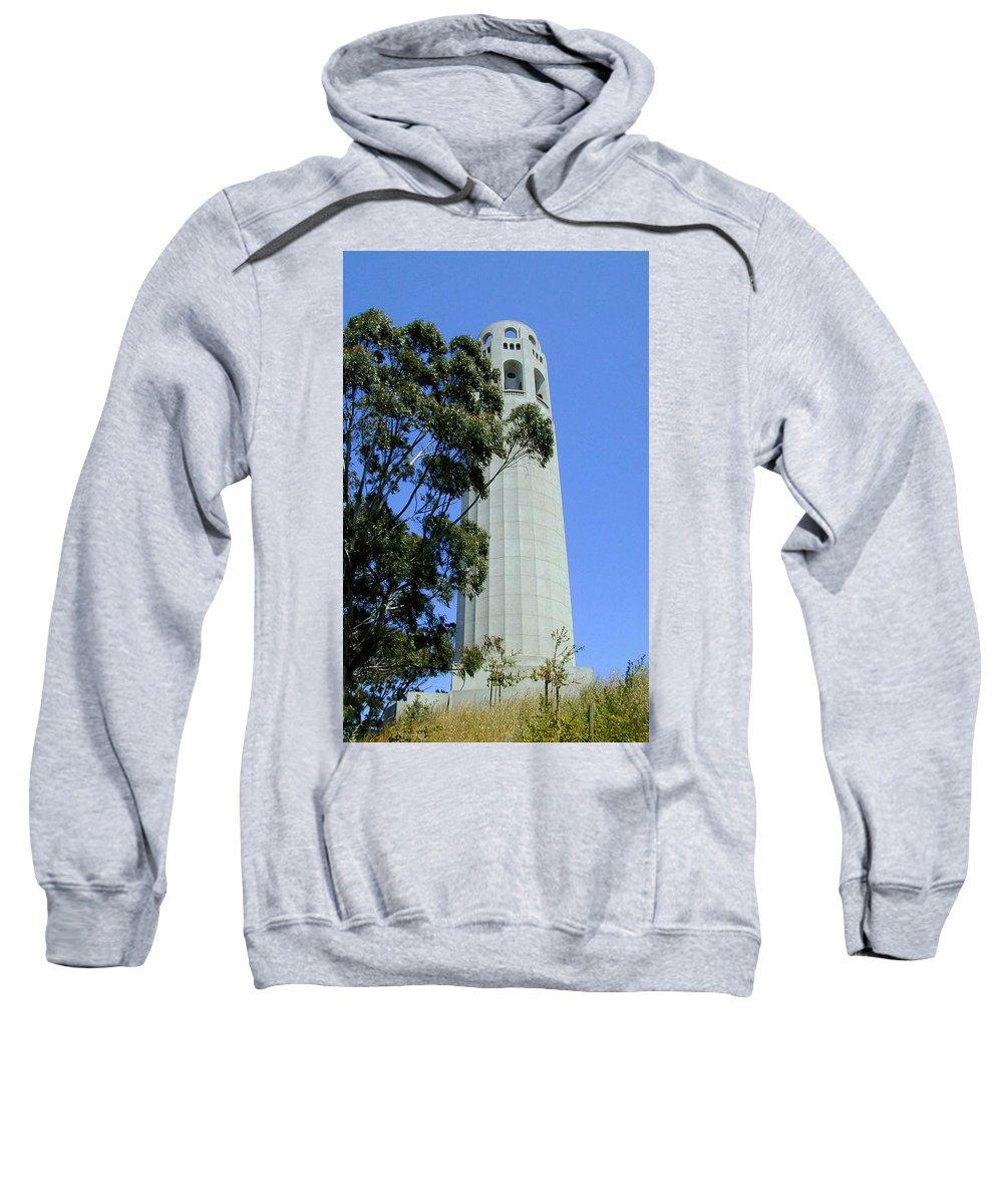 Coit Sweatshirt featuring the photograph Coit Tower by Douglas Barnett