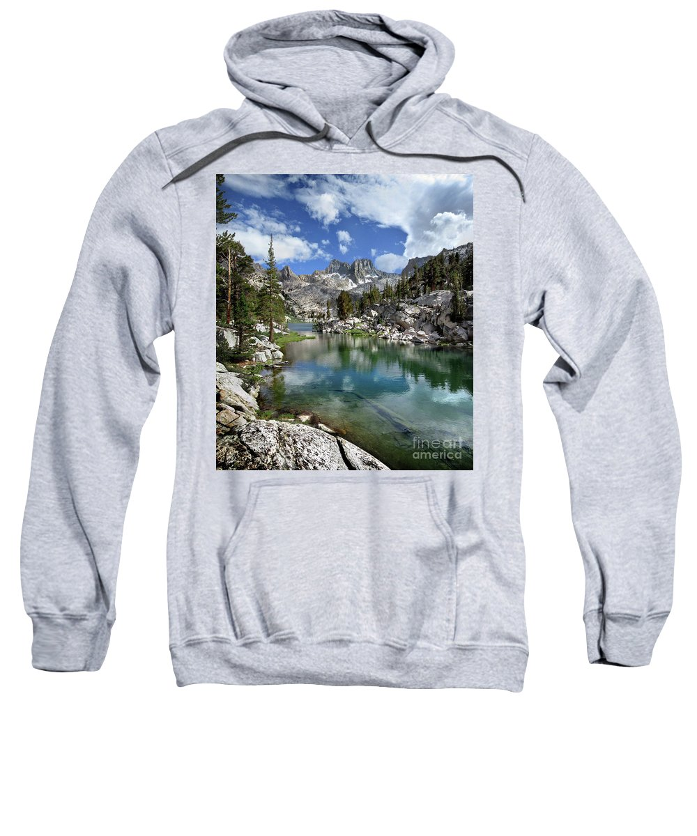 Sierra Sweatshirt featuring the photograph Colby Lake Outlet - Sierra by Bruce Lemons