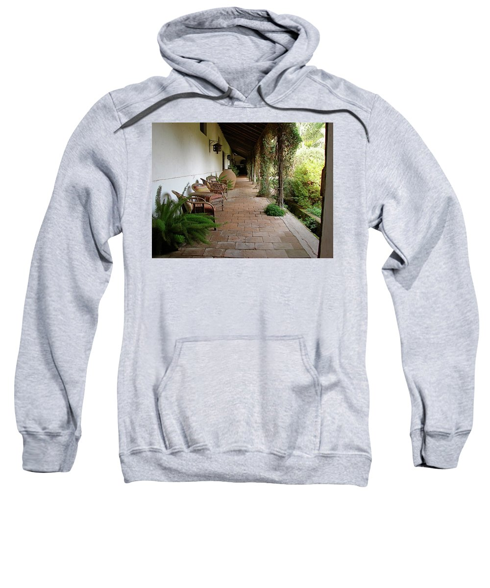 Colchagua Sweatshirt featuring the photograph Colchagua Valley Porch by Brett Winn
