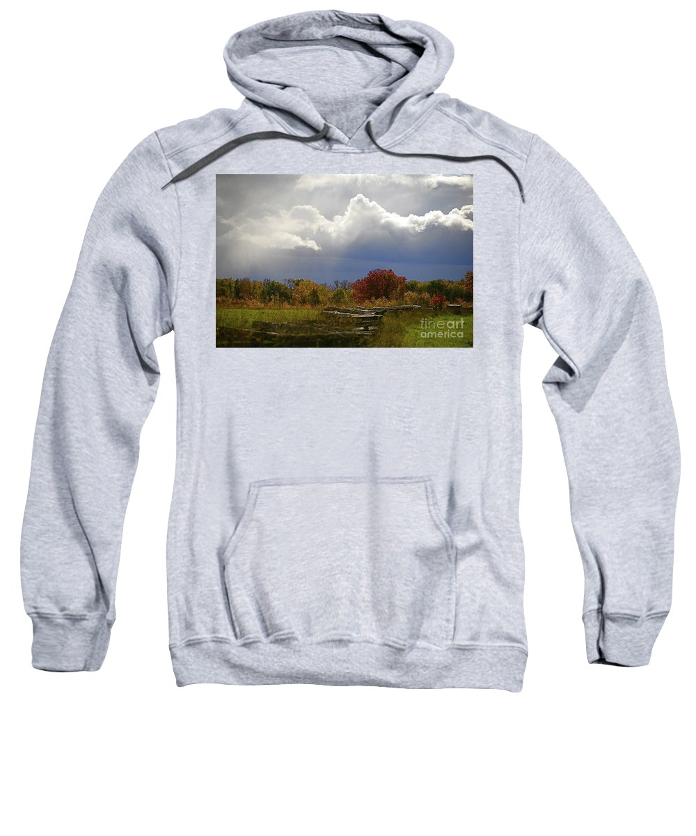 Landscape Sweatshirt featuring the photograph Cold Front by Robert Pearson