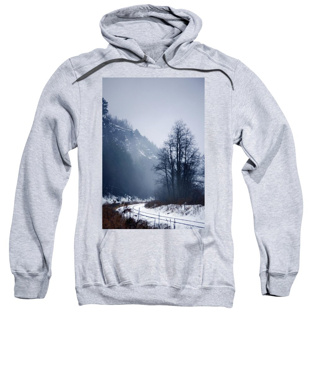 Falls Pennsylvania Sweatshirt featuring the photograph Cold Motion... by Arthur Miller