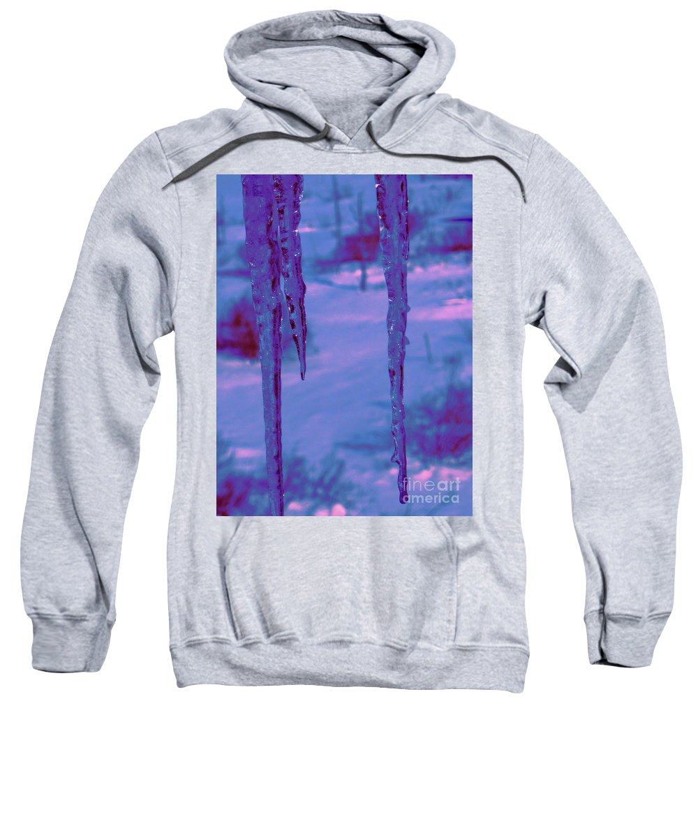 Water Sweatshirt featuring the photograph Cold Night Falling by Sybil Staples