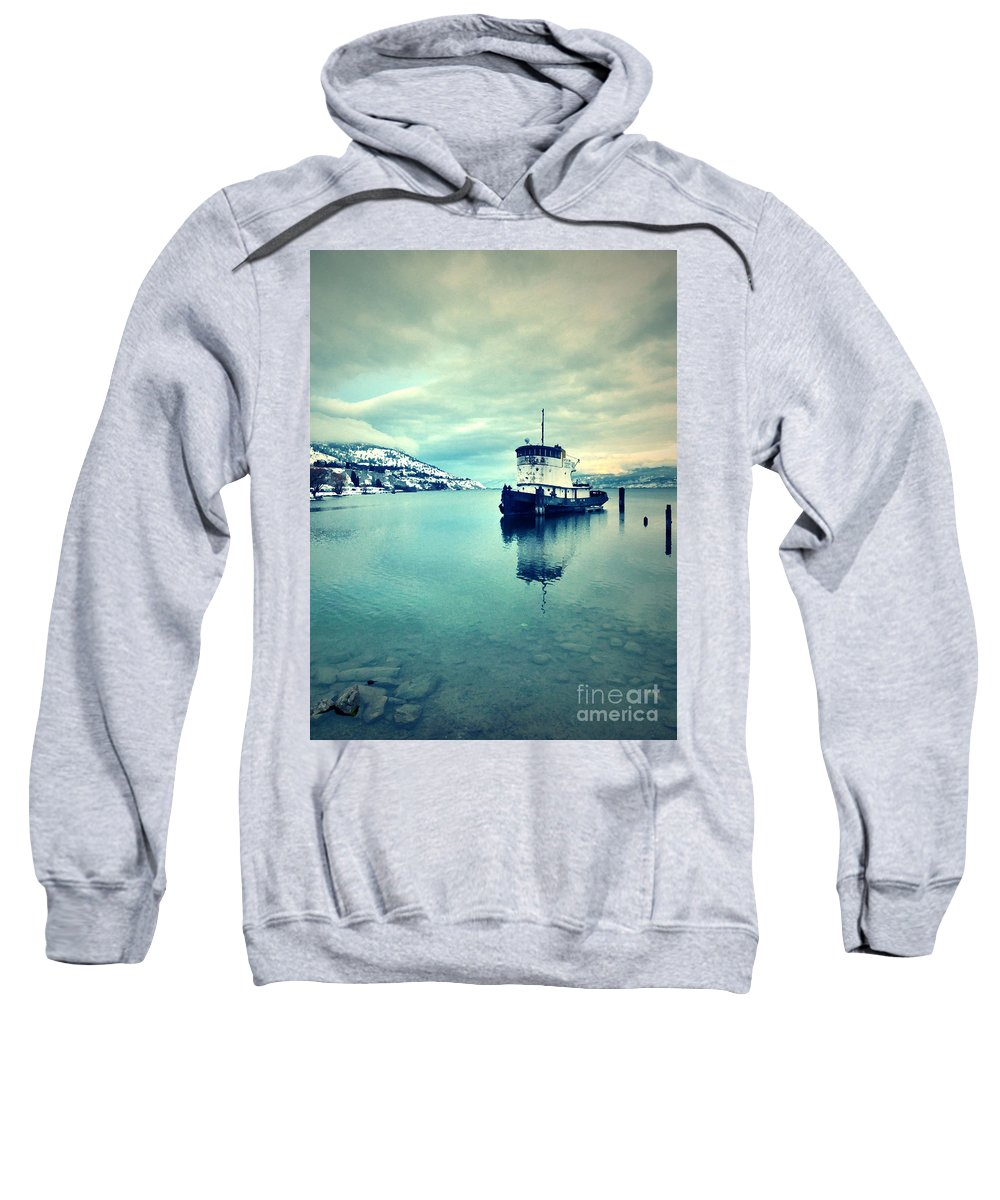 Boat Sweatshirt featuring the photograph Cold Reflections by Tara Turner
