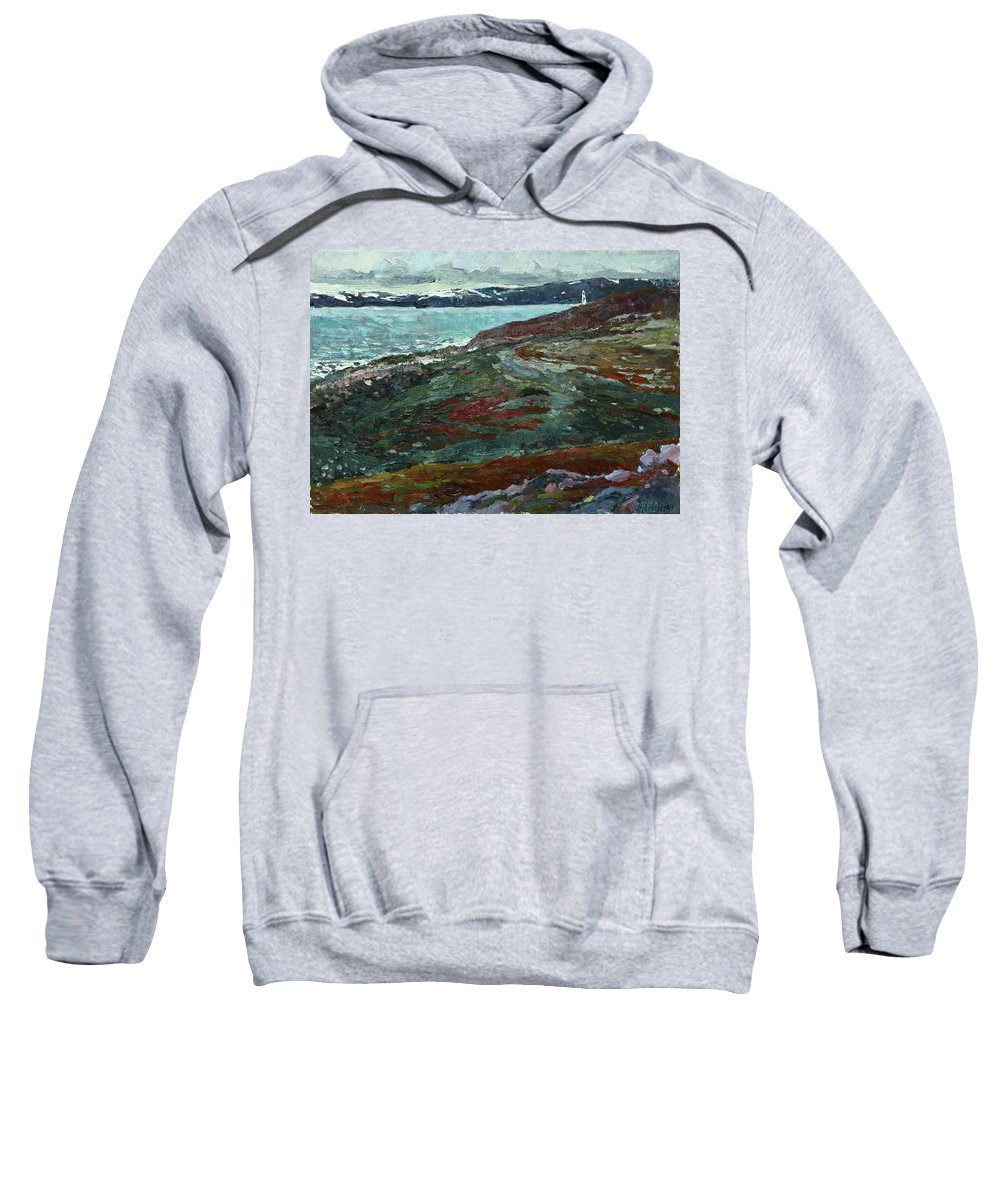 Plein Air Sweatshirt featuring the painting Cold Tundra by Juliya Zhukova