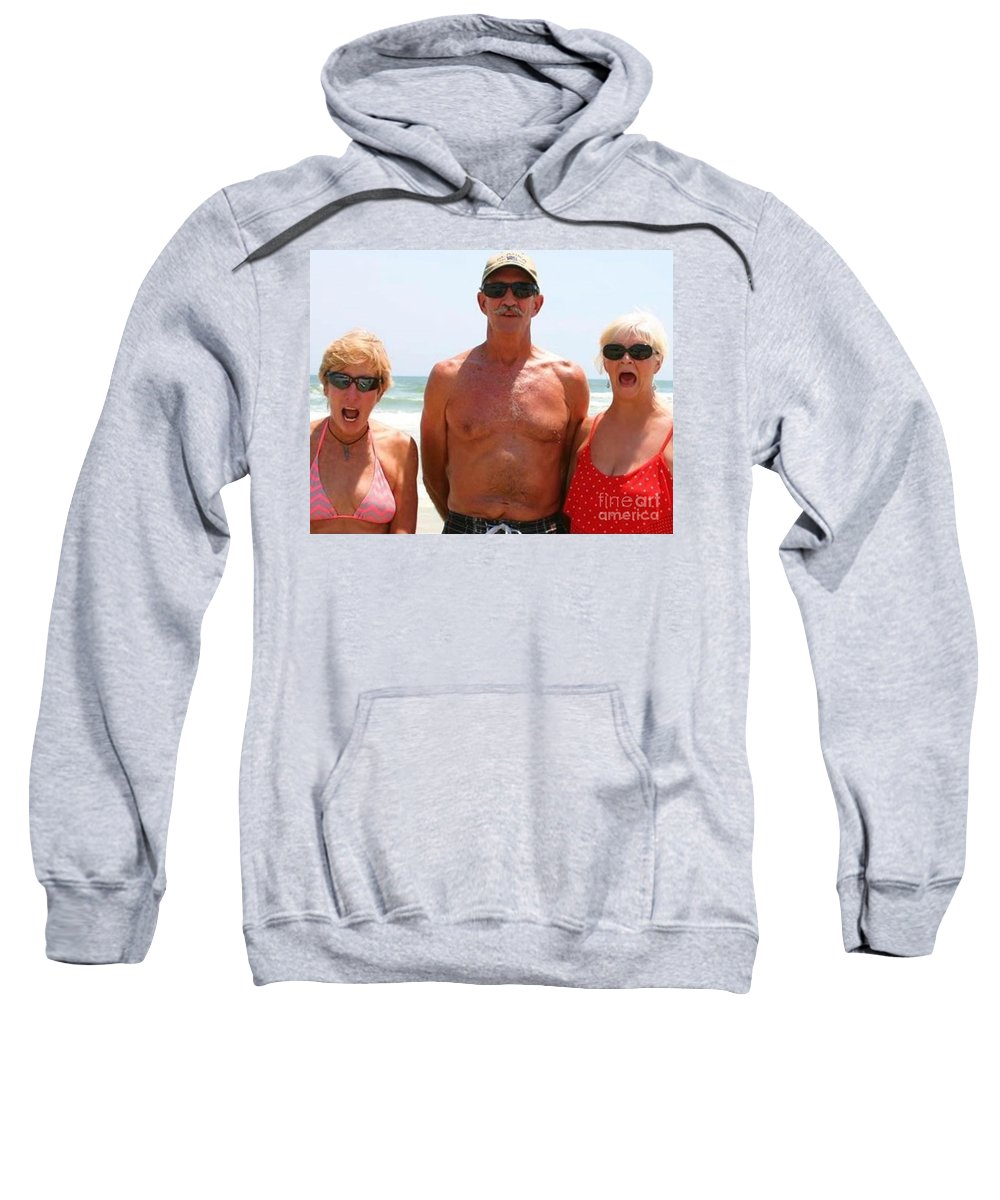 Water Sweatshirt featuring the photograph Cold Water From Behind by Donna Cain