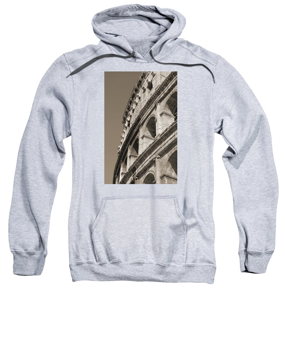 Coliseum Sweatshirt featuring the photograph Coliseum Bw by Christine Oleson