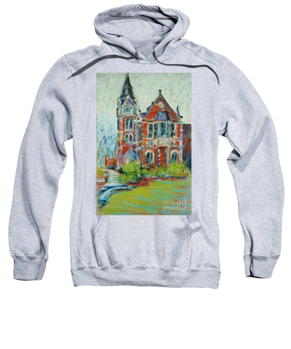 Library Sweatshirt featuring the pastel College Life by K M Pawelec