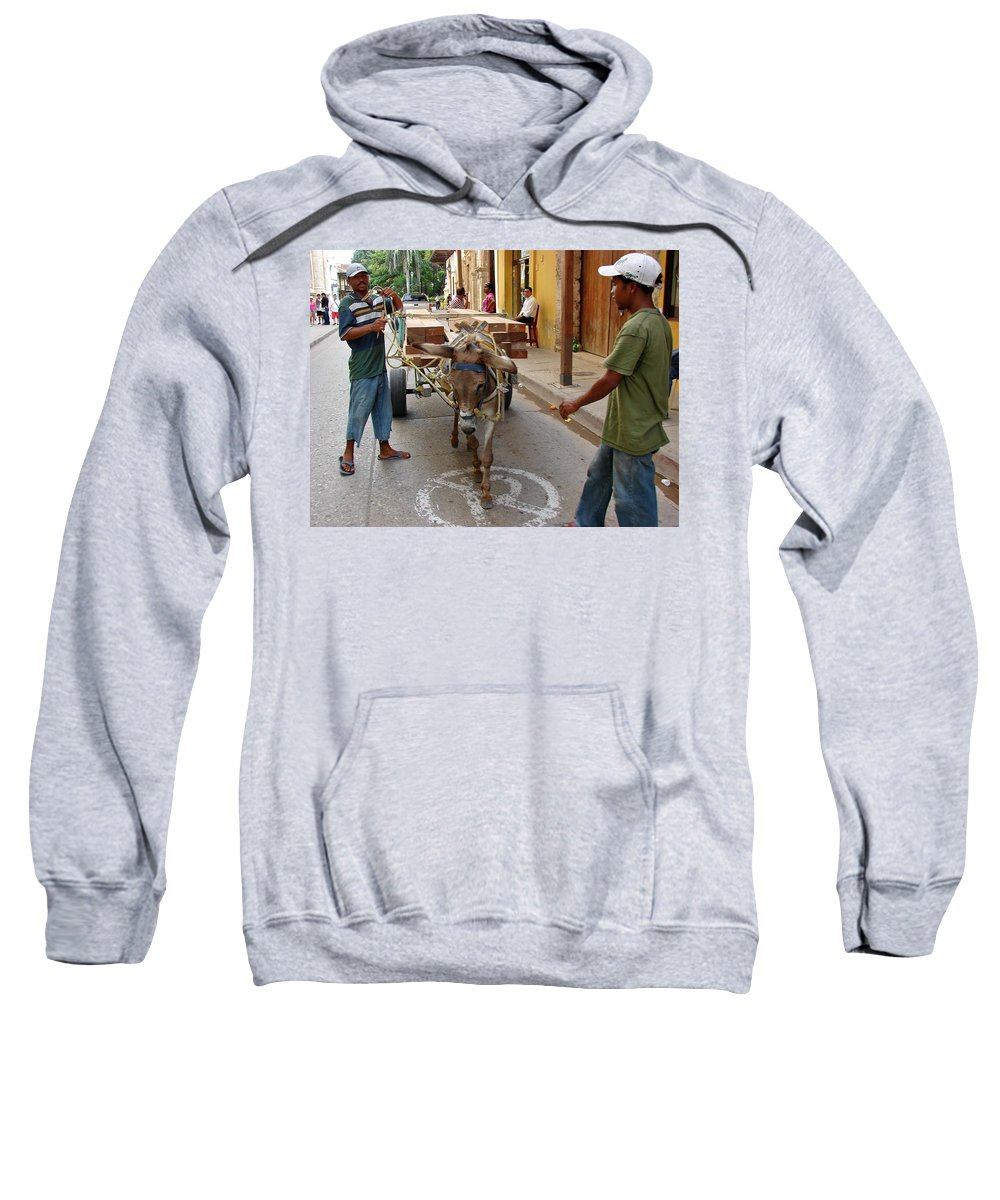 Colombia Sweatshirt featuring the photograph Colombia Streets II by Brett Winn
