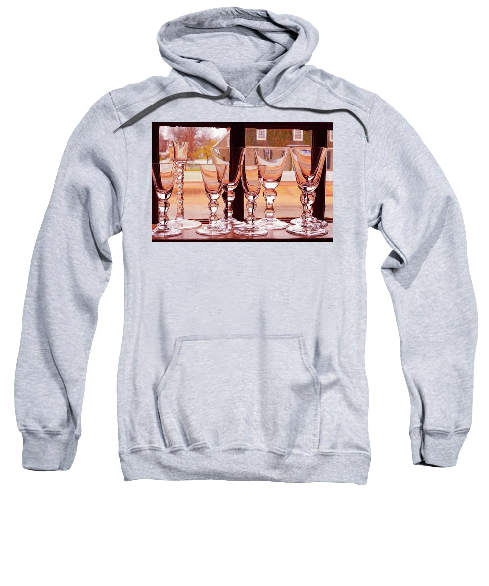 American Sweatshirt featuring the photograph Colonial Glassware by Lou Ford
