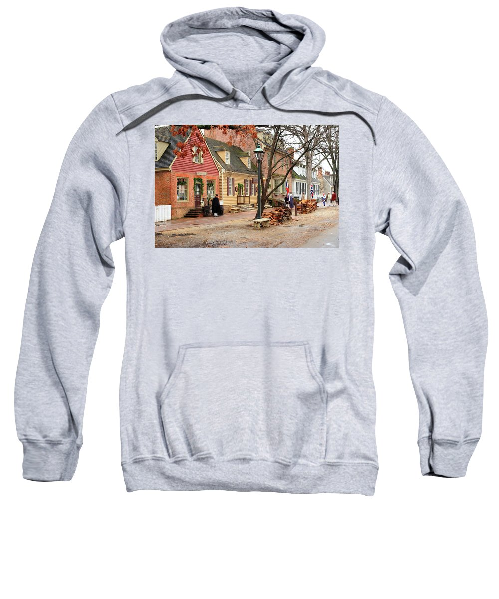 American Sweatshirt featuring the photograph Colonial Morning by Lou Ford