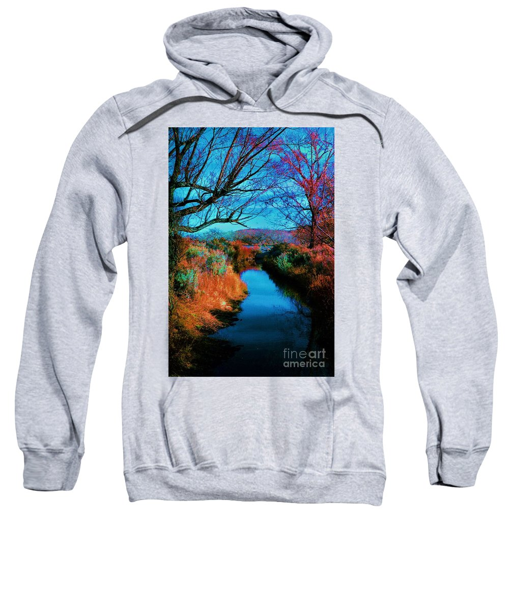 Color Sweatshirt featuring the photograph Color Along The River by Diana Dearen