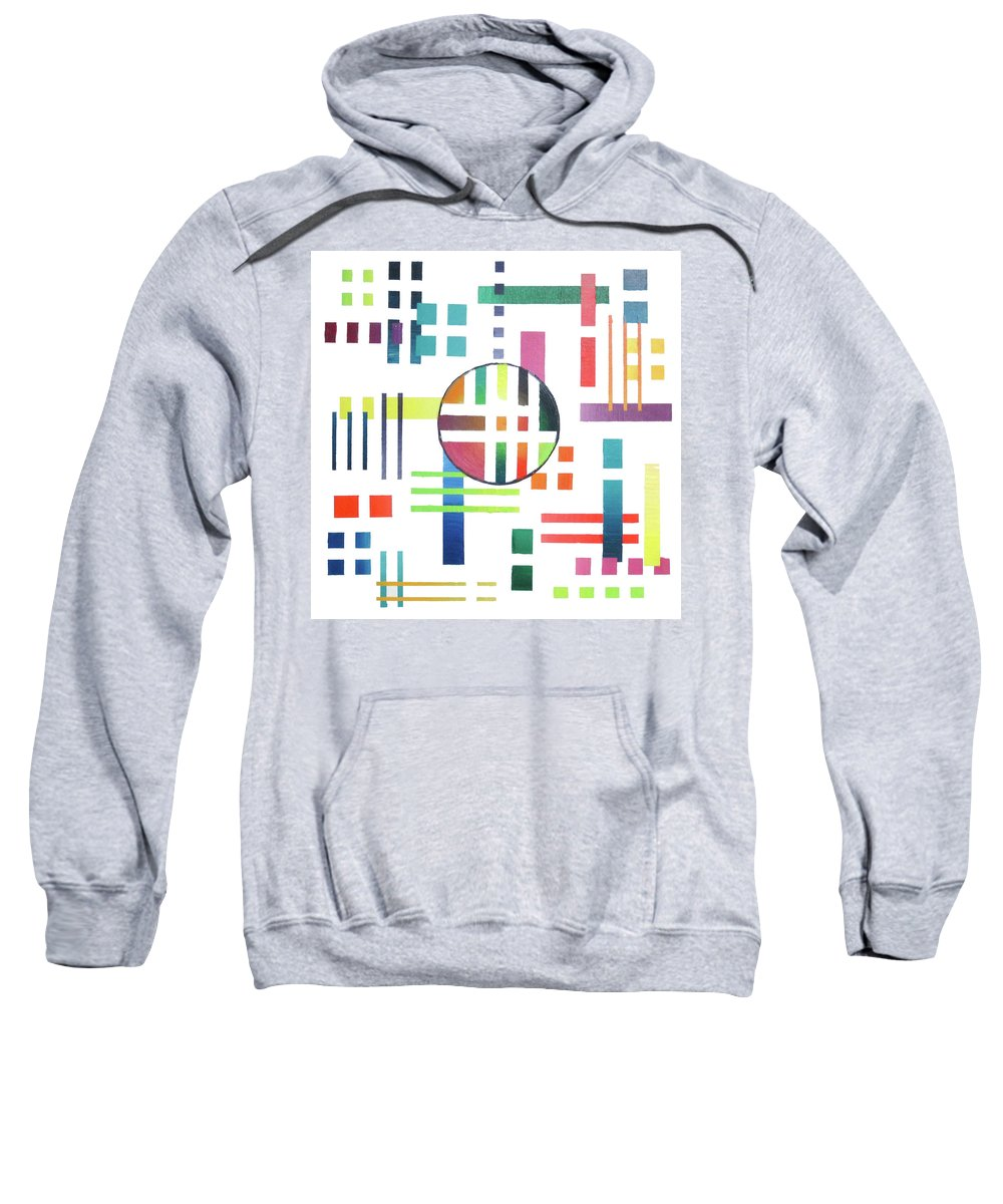 Color Sweatshirt featuring the painting Color And Form by Jeremy Aiyadurai