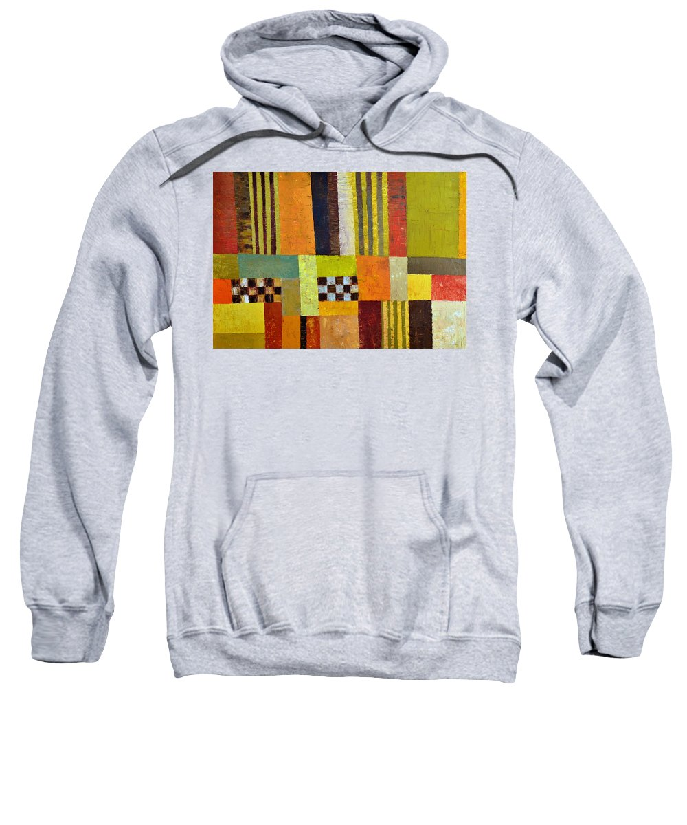 Colorful Sweatshirt featuring the painting Color And Pattern Abstract by Michelle Calkins