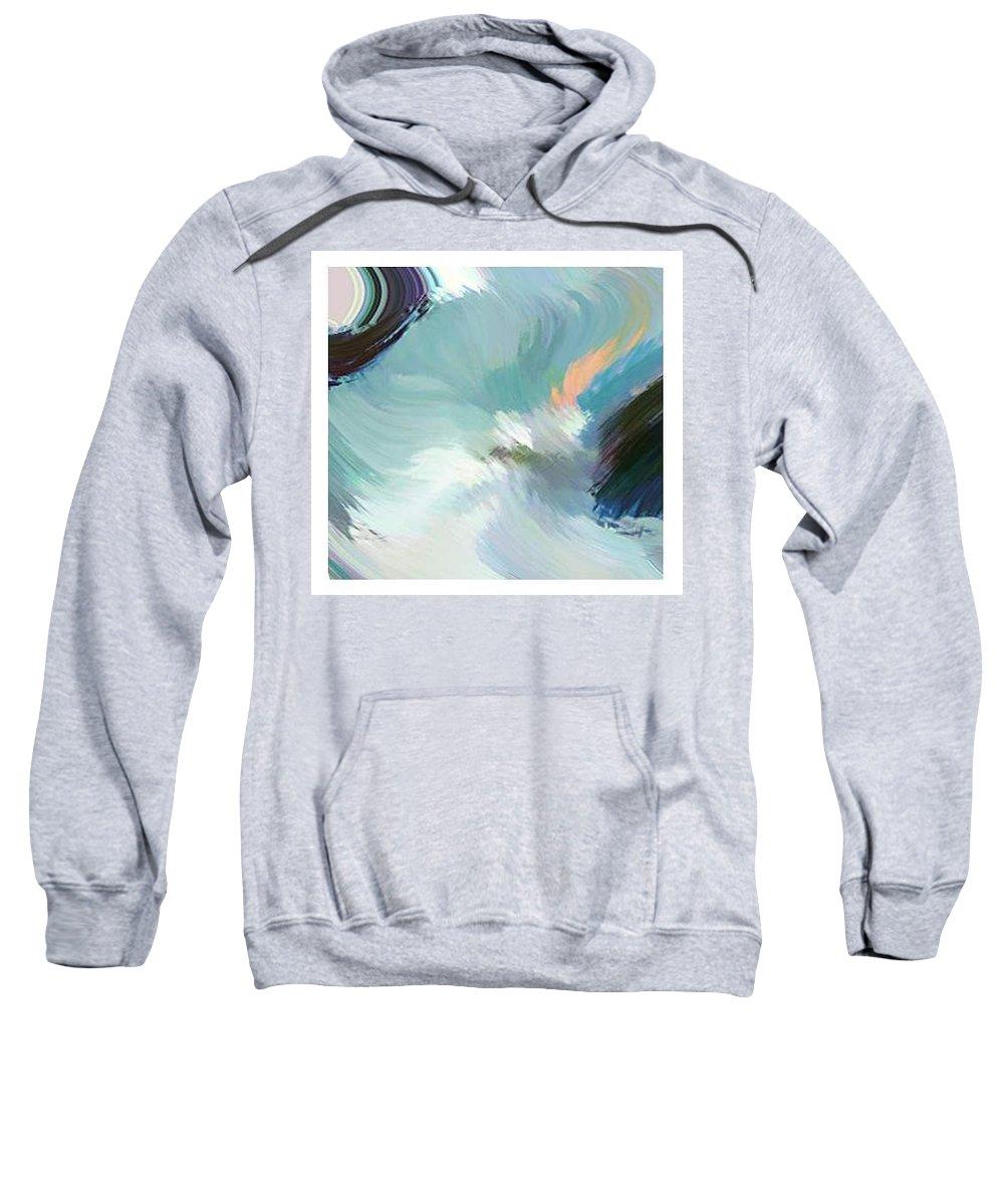 Landscape Digital Art Sweatshirt featuring the digital art Color Falls by Anil Nene