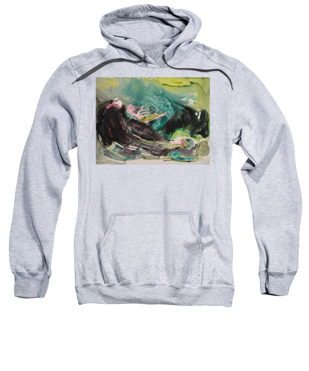 Abstract Paintings Sweatshirt featuring the painting Color Fever Series009 by Seon-Jeong Kim