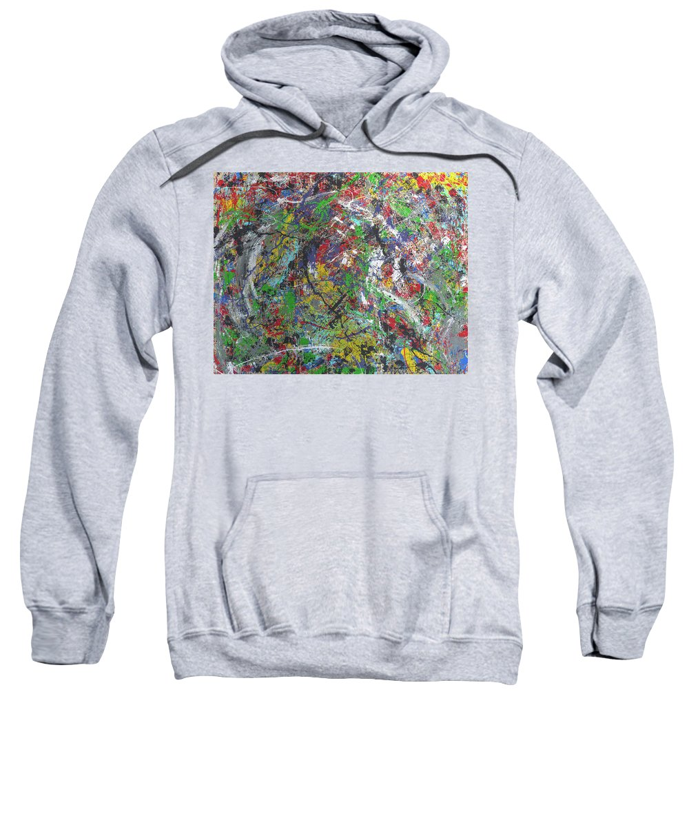 Sweatshirt featuring the painting Color Map From The Sky And Ice Figure by Clay White