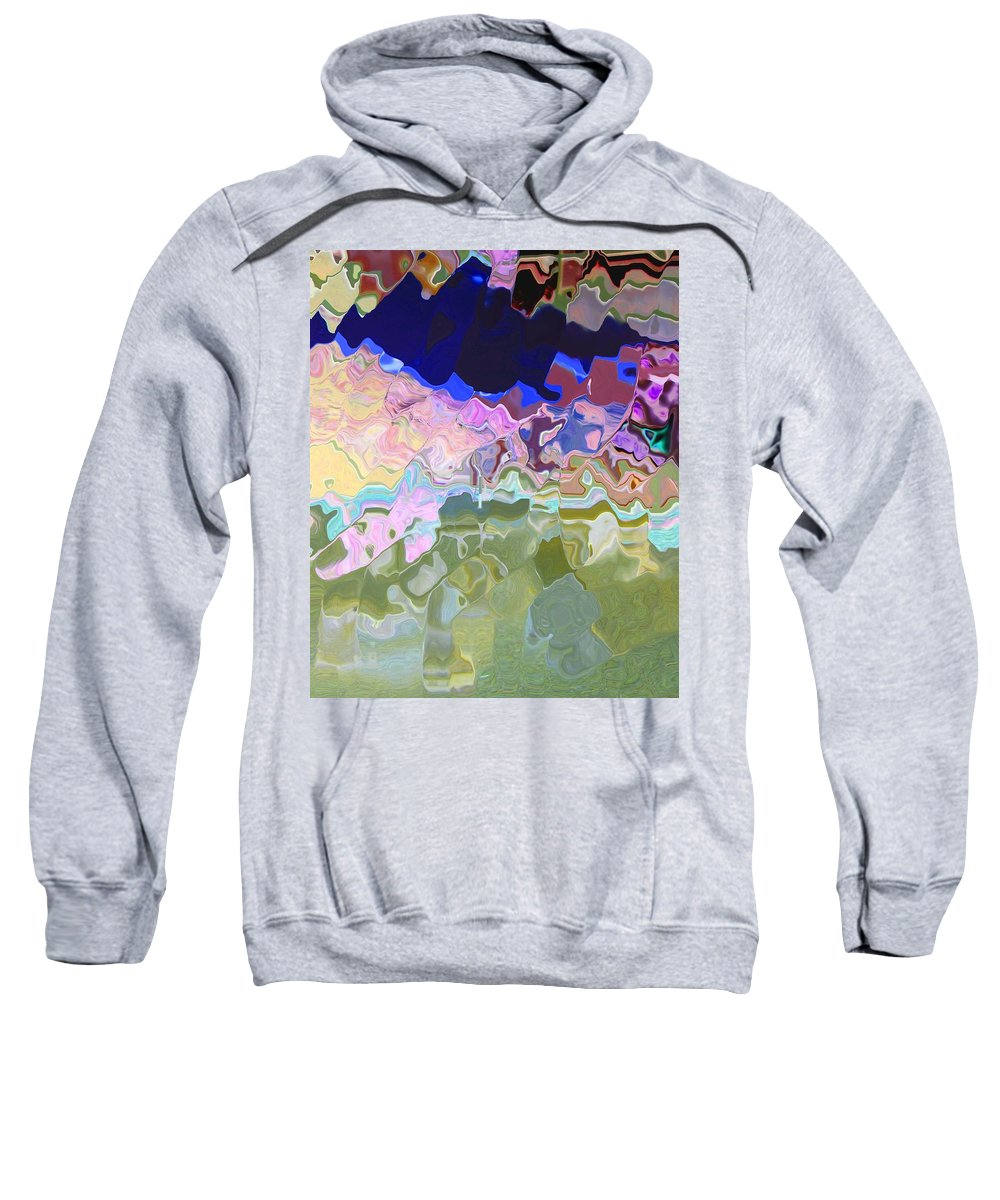 Abstract Sweatshirt featuring the digital art Colorado Mountains by Lenore Senior