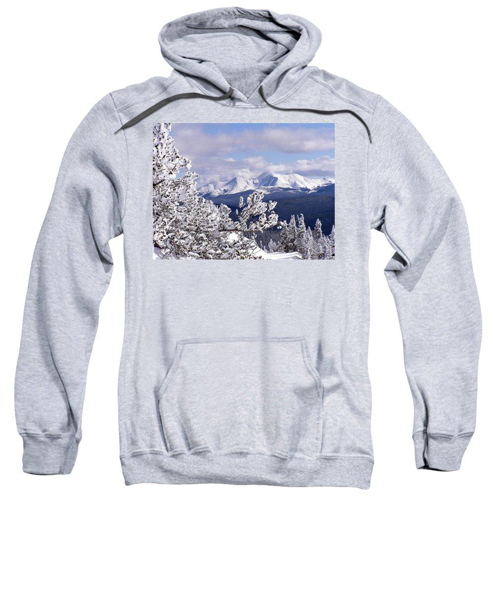 Mountains Sweatshirt featuring the photograph Colorado Sawatch Mountain Range by Carol Milisen