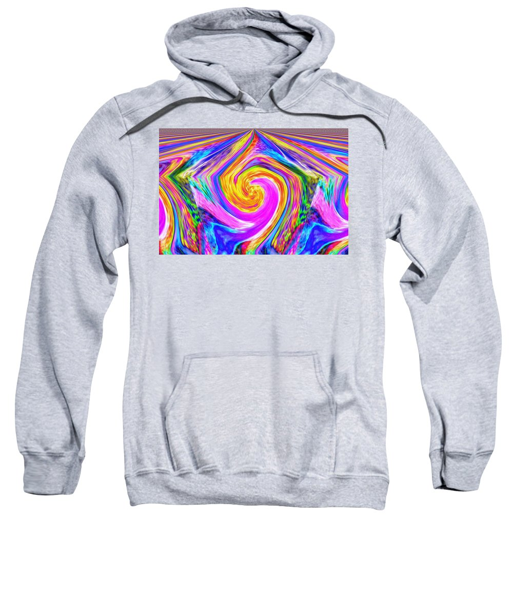 Abstract Sweatshirt featuring the photograph Colored Lines And Curls by Jeff Swan
