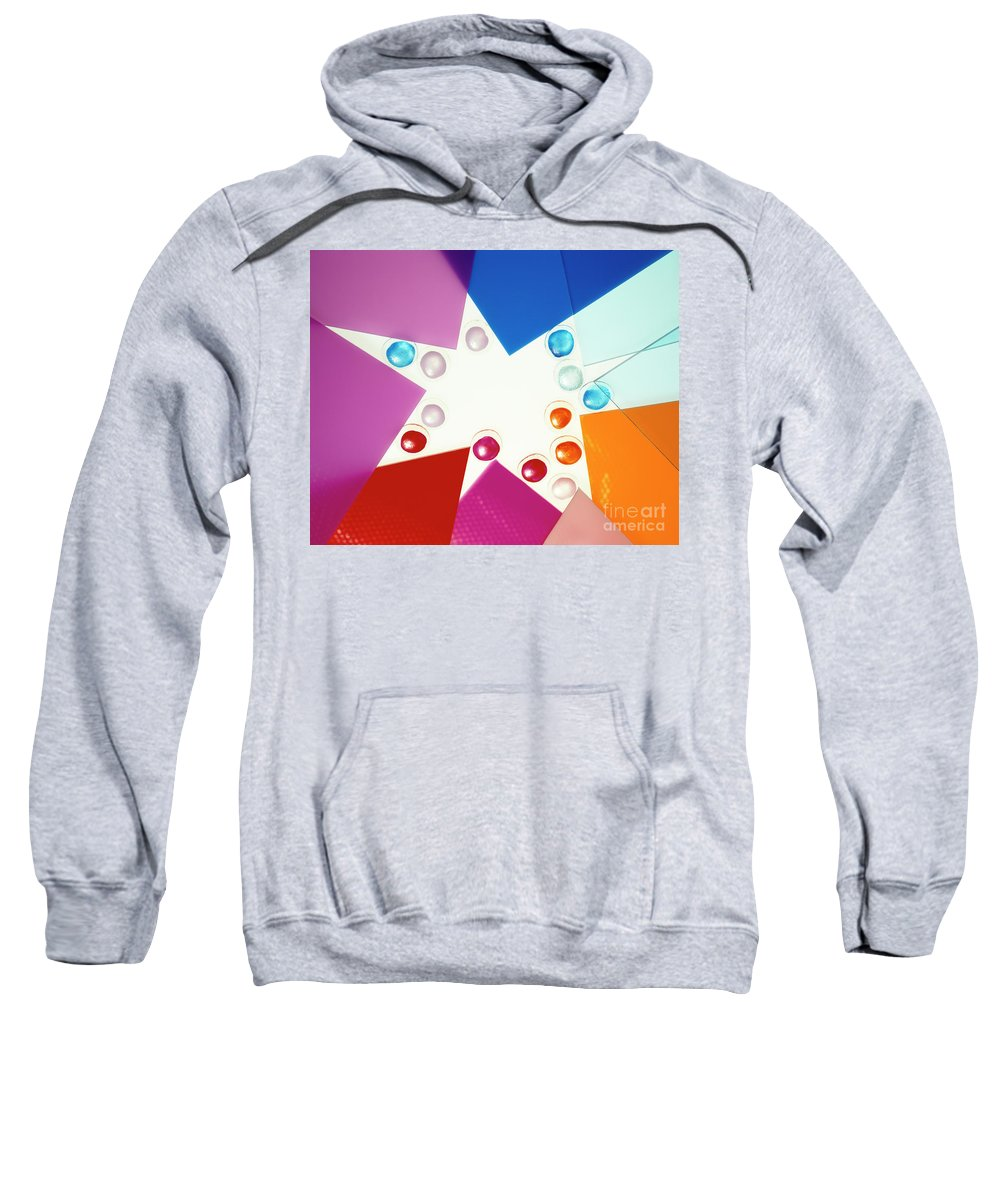 Arty Sweatshirt featuring the photograph Colored Plexiglas Shapes by Stefania Levi