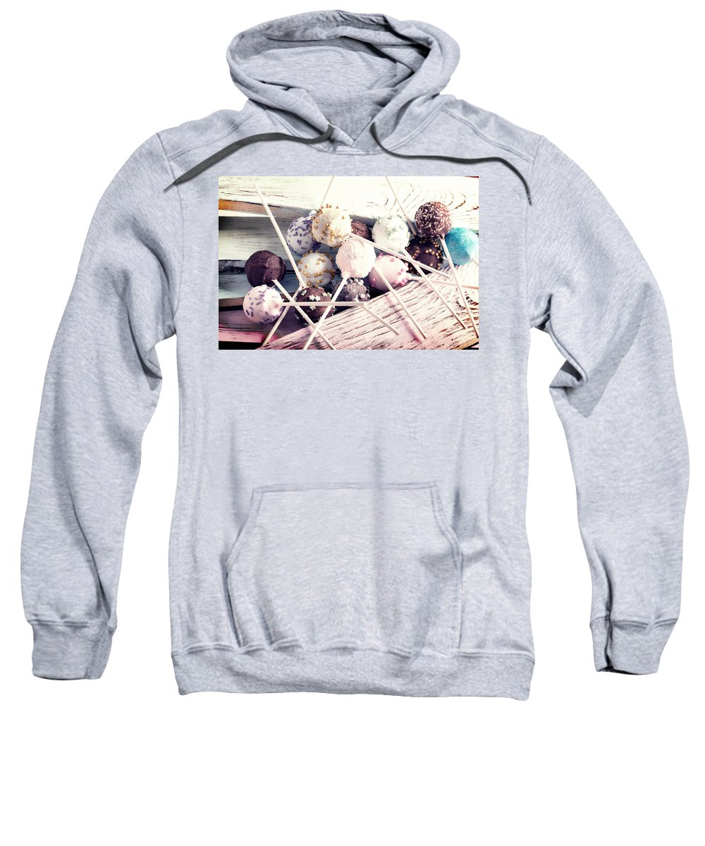 Vadim Goodwill Sweatshirt featuring the photograph Colorful Cake Pops 3 by Vadim Goodwill