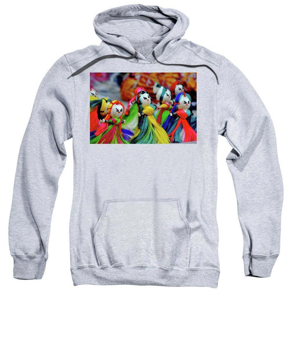 Soft Toy Sweatshirt featuring the photograph Colorful Dolls by Smita Shitole
