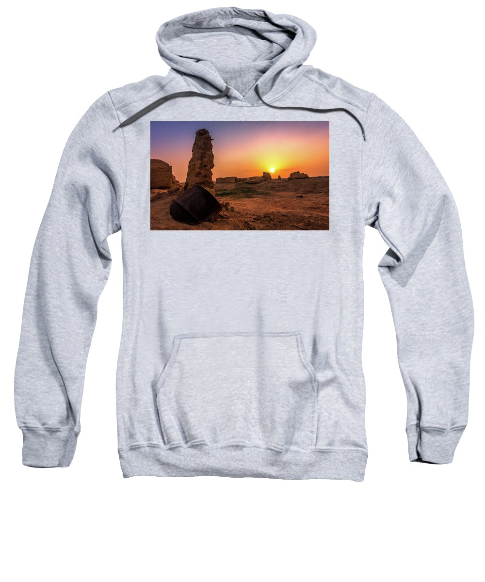 Scenery Sweatshirt featuring the photograph Colorful Evening In The Ruined World.. by Azfar Rahman