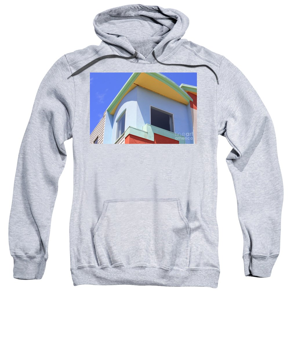 San Franciso Sweatshirt featuring the photograph Colorful House In San Francisco by Carol Groenen