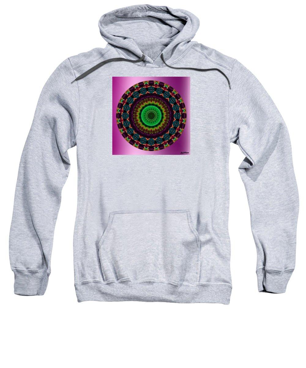 Digital Sweatshirt featuring the digital art Colorful No. 4 Mandala by Joy McKenzie