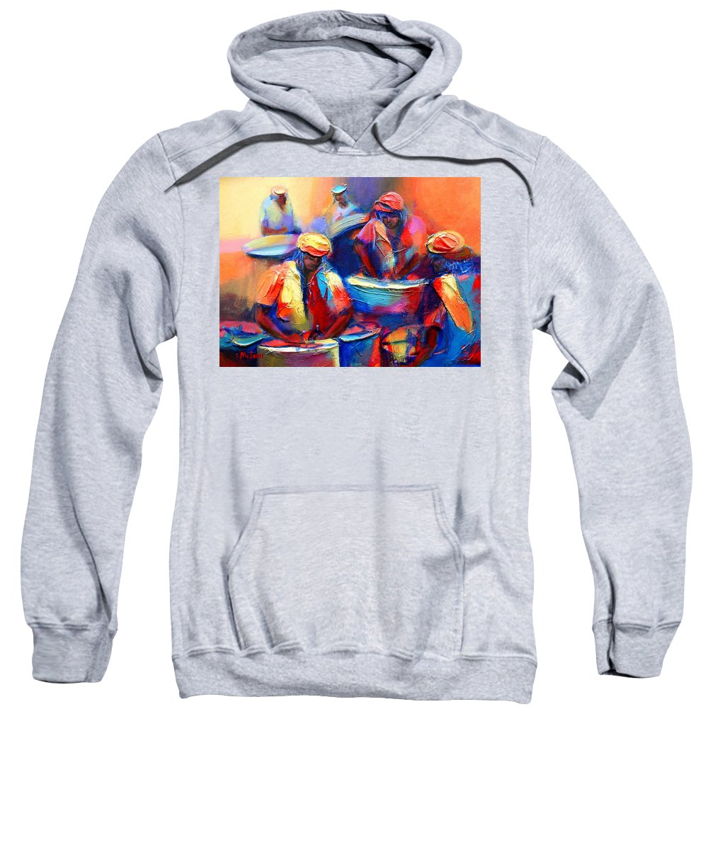 Colour Pan Sweatshirt featuring the painting Colour Pan by Cynthia McLean